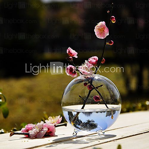 Table Centerpieces Round Clear Glass Vase Centerpiece Table