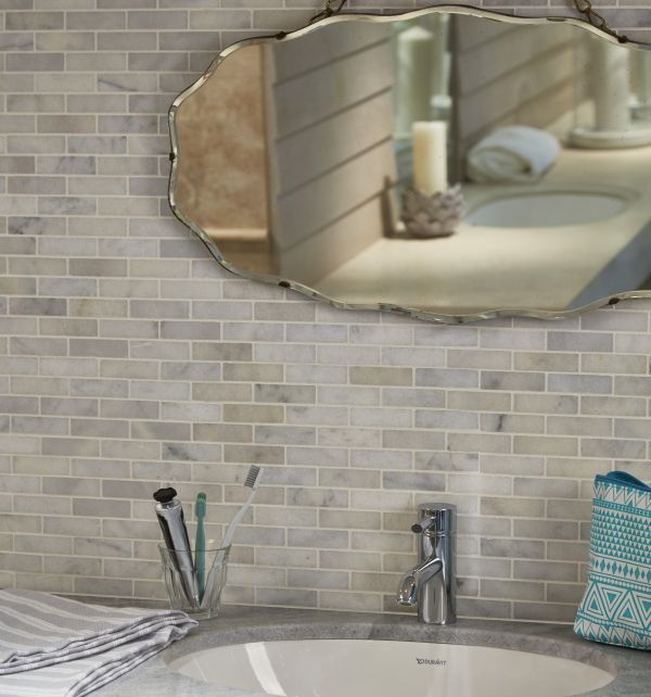 long island slim brick mosaics this is a classic white marble with grey veining at a very affordable price for such a durable beautiful material