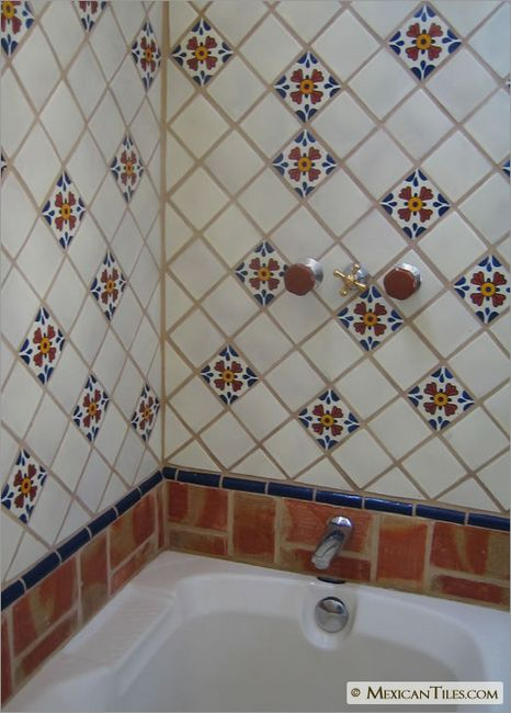 Mexicantiles Com Bathroom Shower Wall And Tub With