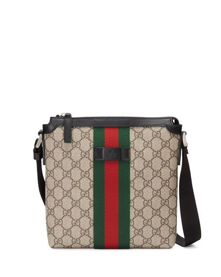 fcbc359b6e30 GUCCI Gg Supreme Web Small Zip-Top Crossbody Bag, Light Beige. #gucci #bags  #shoulder bags #leather #nylon #crossbody #lining #