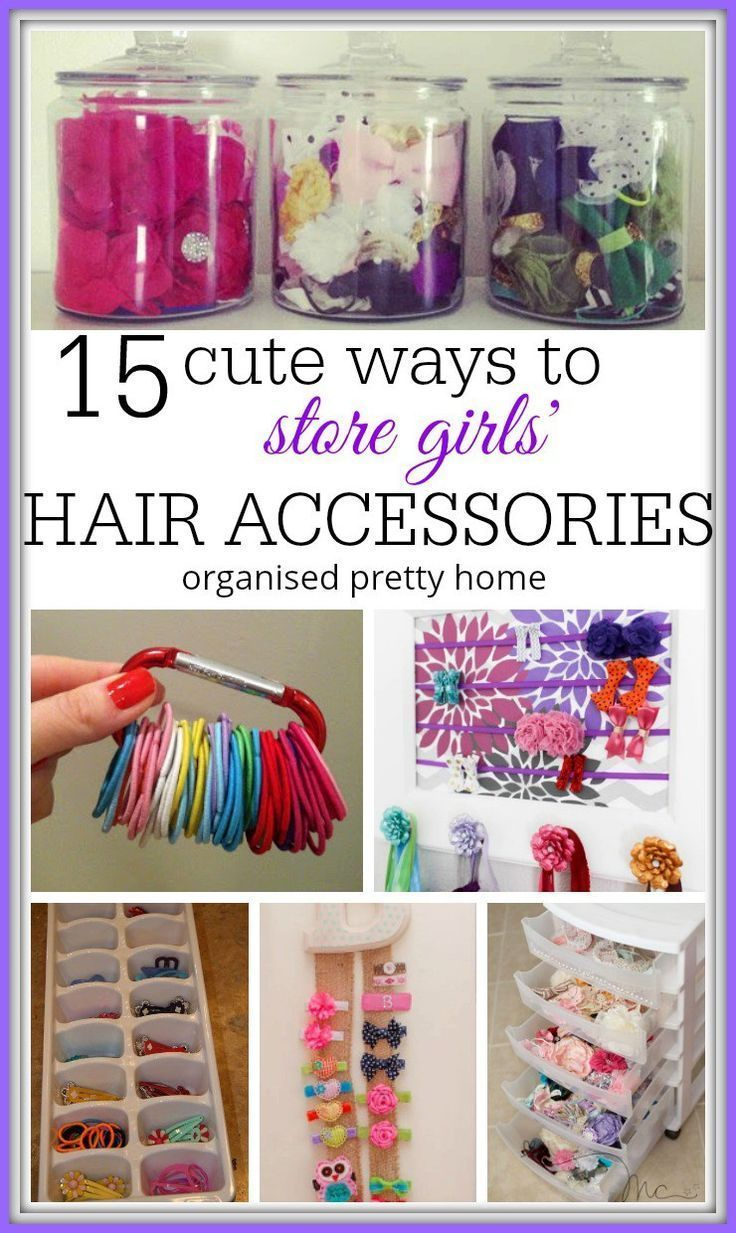 15 Cute Ways To Organize Girls Hair Accessories #kidshairaccessories 15 Cute Ways To Organise Hair Accessories For Your Daughter. Check out this article for awesome storage & organization ideas for your baby girl, toddler or kids hair accessories. - Organised Pretty Home 15 ways for organizing all their flowers, hairbows, clips, hairties and bands etc. #girlshair #girlshairbows #girlshairaccessories #hairaccessoriesholder . #kidshairaccessories