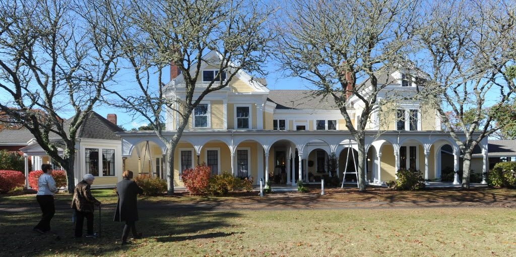 Guests Stroll The Grounds Of The Crosby Mansion In November The Estate Is Often Open For Tours Steve Heaslip Cape Cod Times Cape Cod Mansions Cape Cod Times