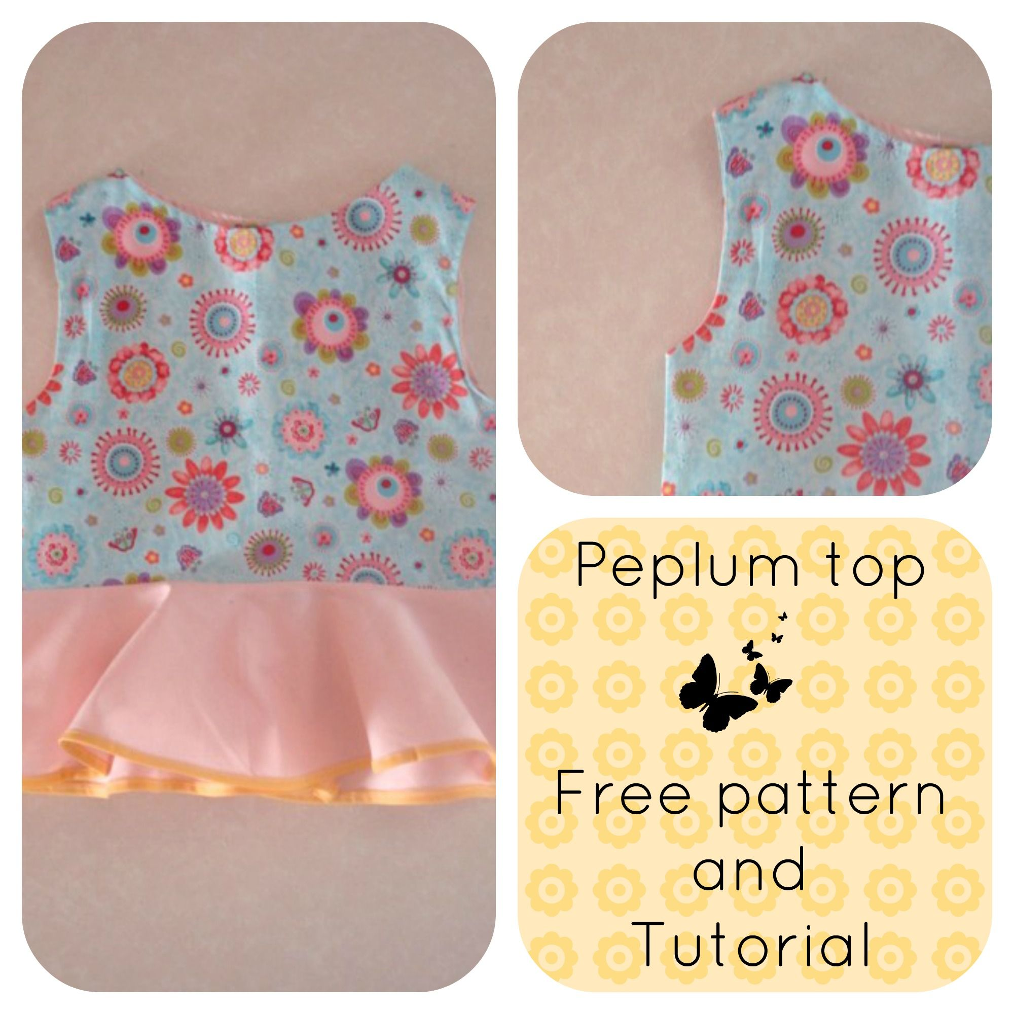 FREE peplum top pattern #freesewingpattern | FREE sewing patterns ...