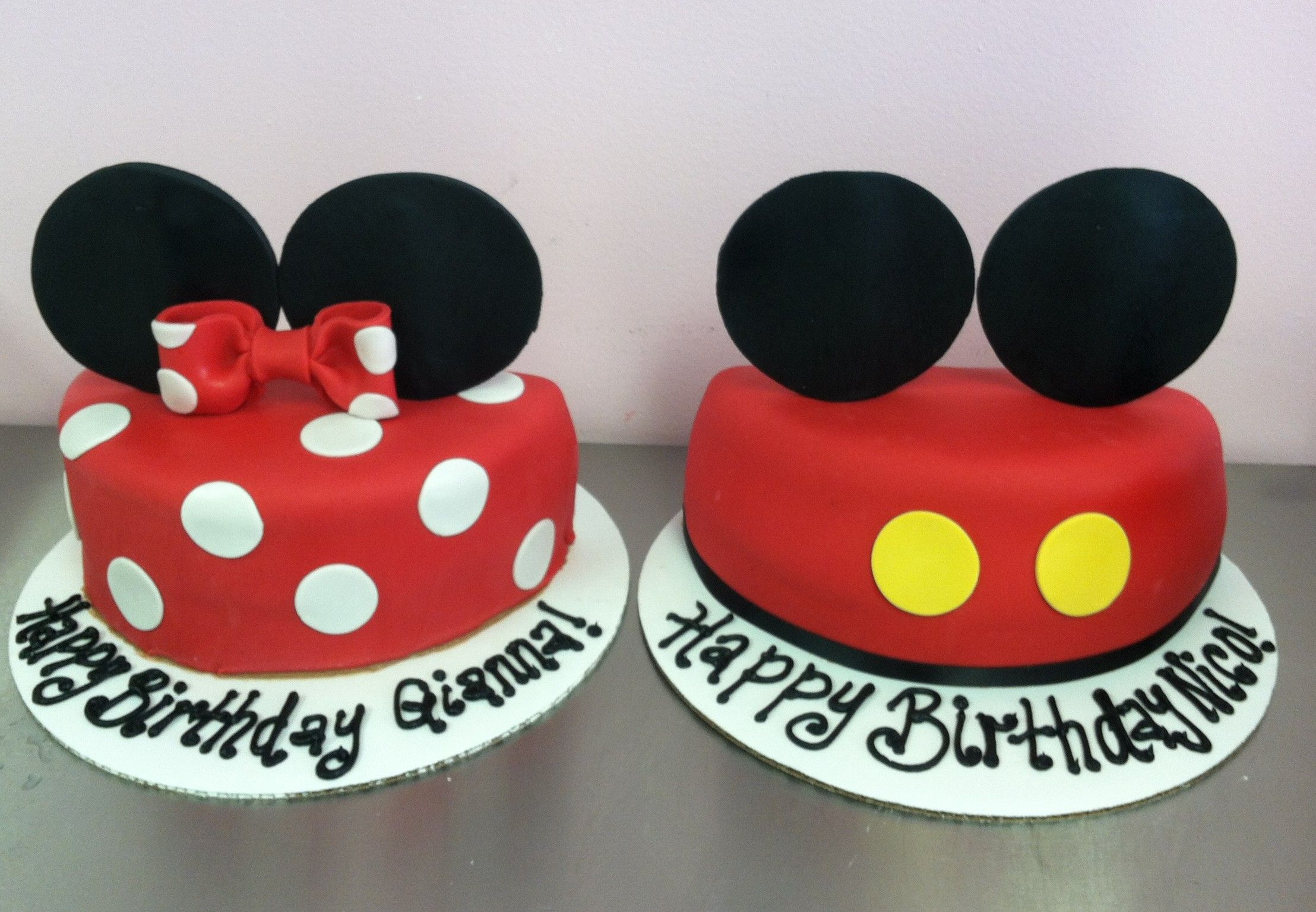 Mickey And Minnie Half Cakes Mickey And Minnie Cake Mickey