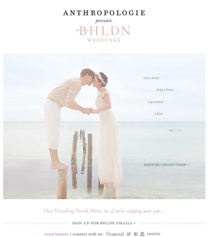 ANTHROPOLOGIE | BHLDN weddings