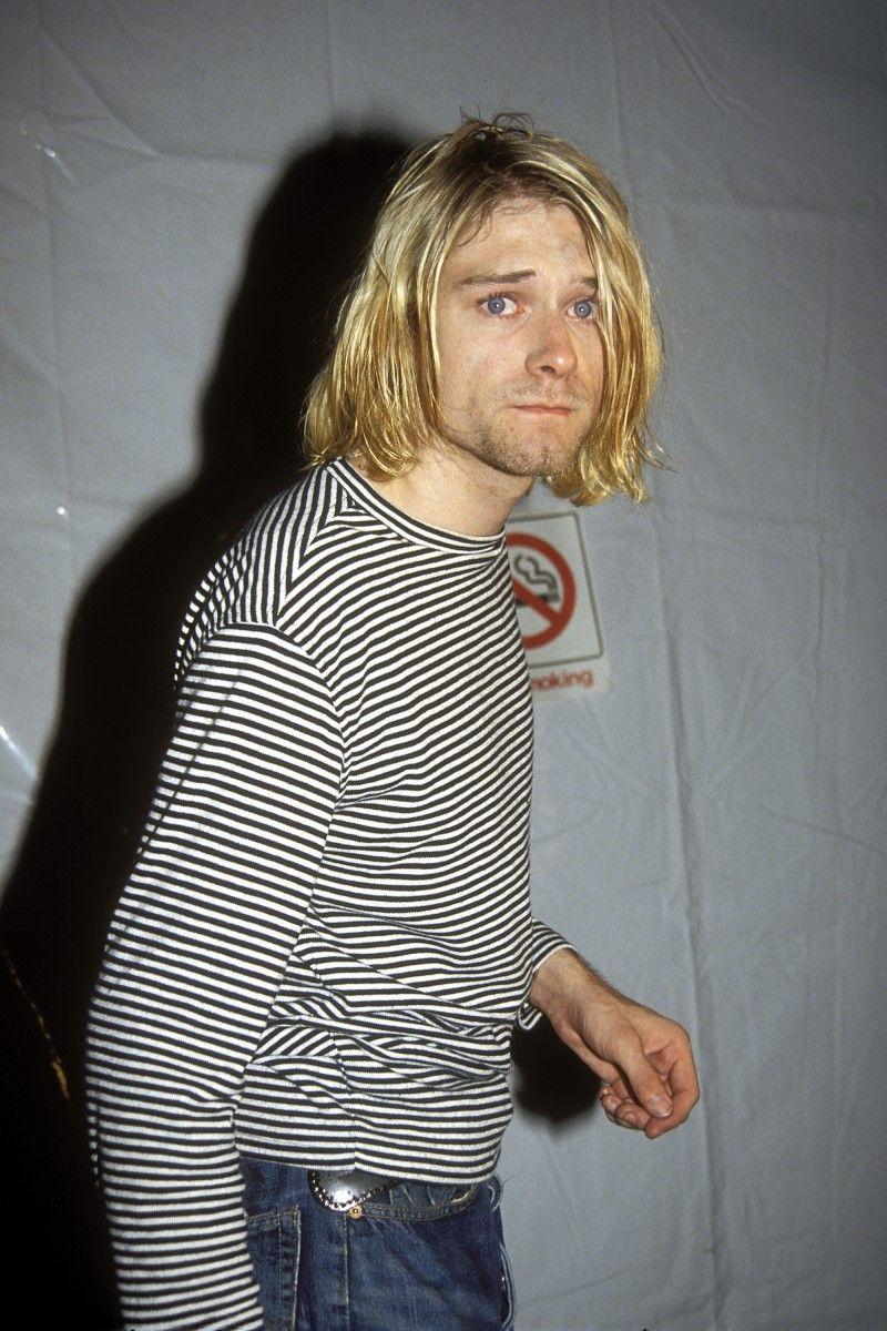 Men S Topman Kurt Cobain Graphic Long Sleeve T Shirt Size