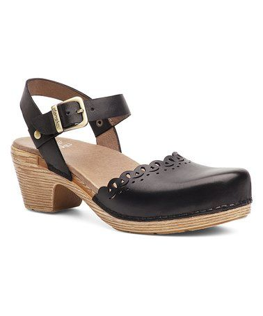 8d7f9bf66d1 Look what I found on  zulily! Black FG Marta Leather Clog - Women ...