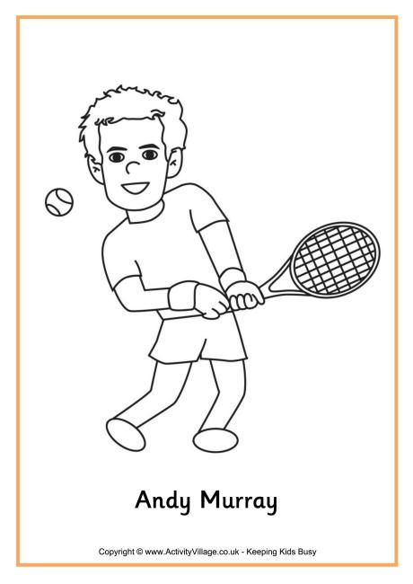 andy murray colouring page