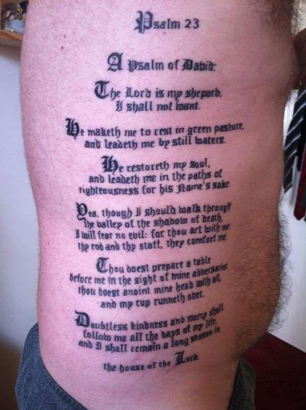Psalm  Tattoos For Men