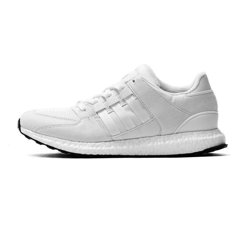Adidas eqt sostegno 93 / 16 impulso bianco / bianchi alti e bassi di indossare
