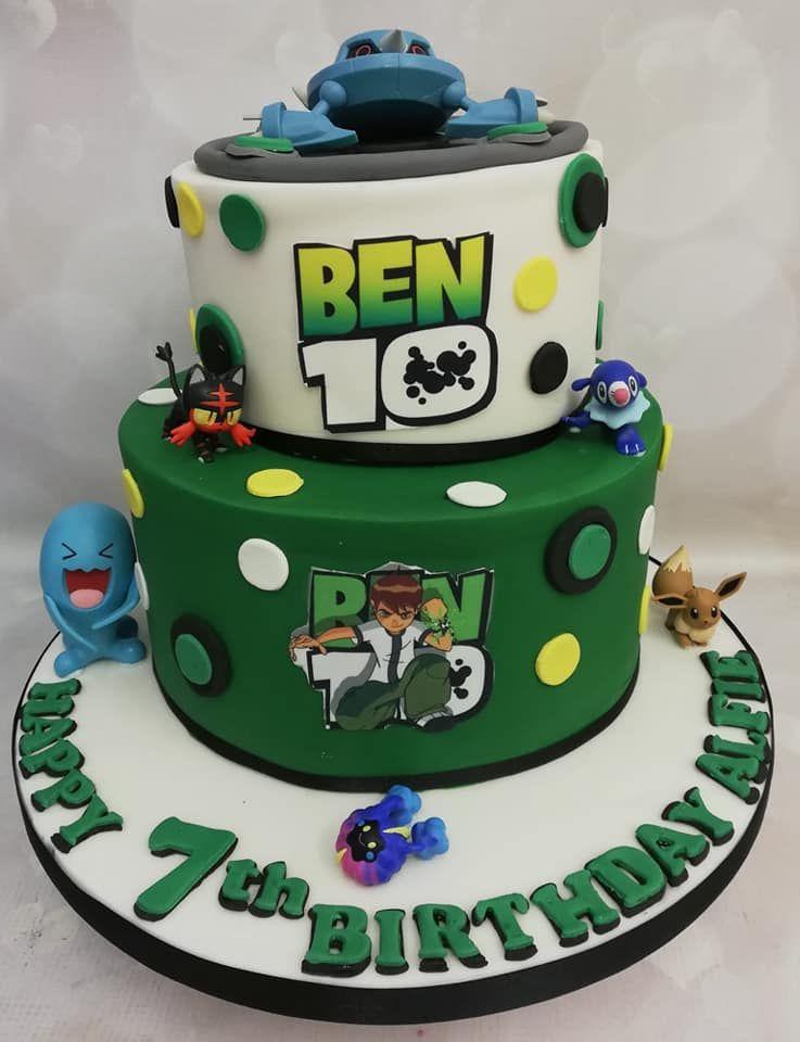 2 Tier Ben Ten Cake Ben 10 Birthday Ben 10 Birthday Party Ben
