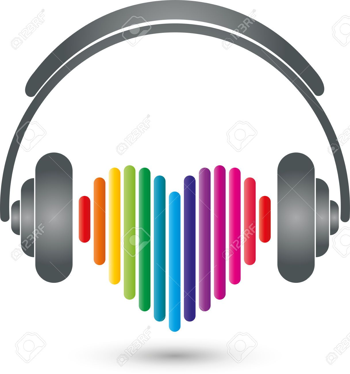 Headphones, Heart, Music Logo, Sound Royalty Free Cliparts ...