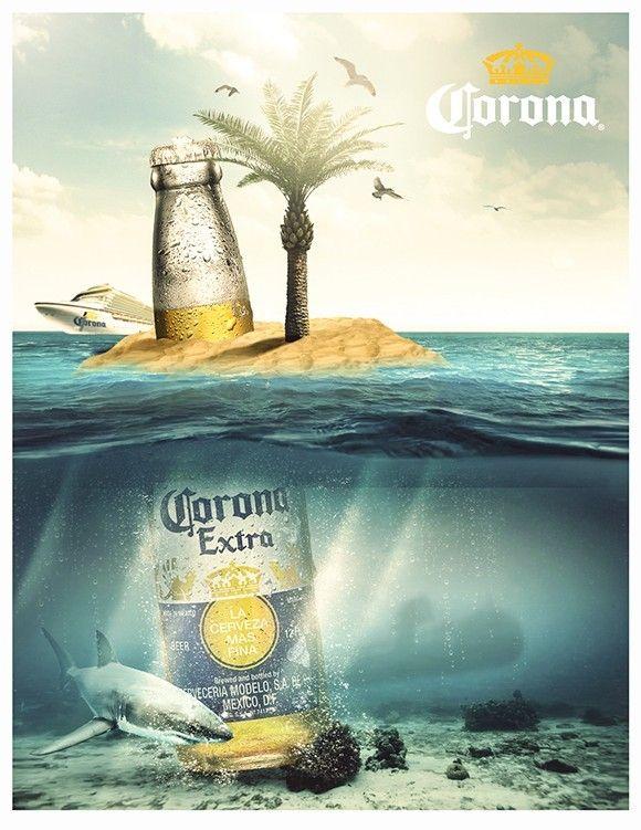 free corona beach flyer template recursos diseño pinterest