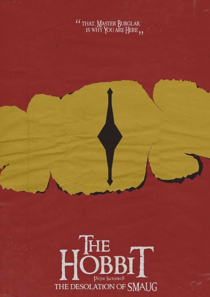 The Hobbit: The Desolation of Smaug (2013) ~ Minimal Movie Poster by Stefano Reves #amusementphile