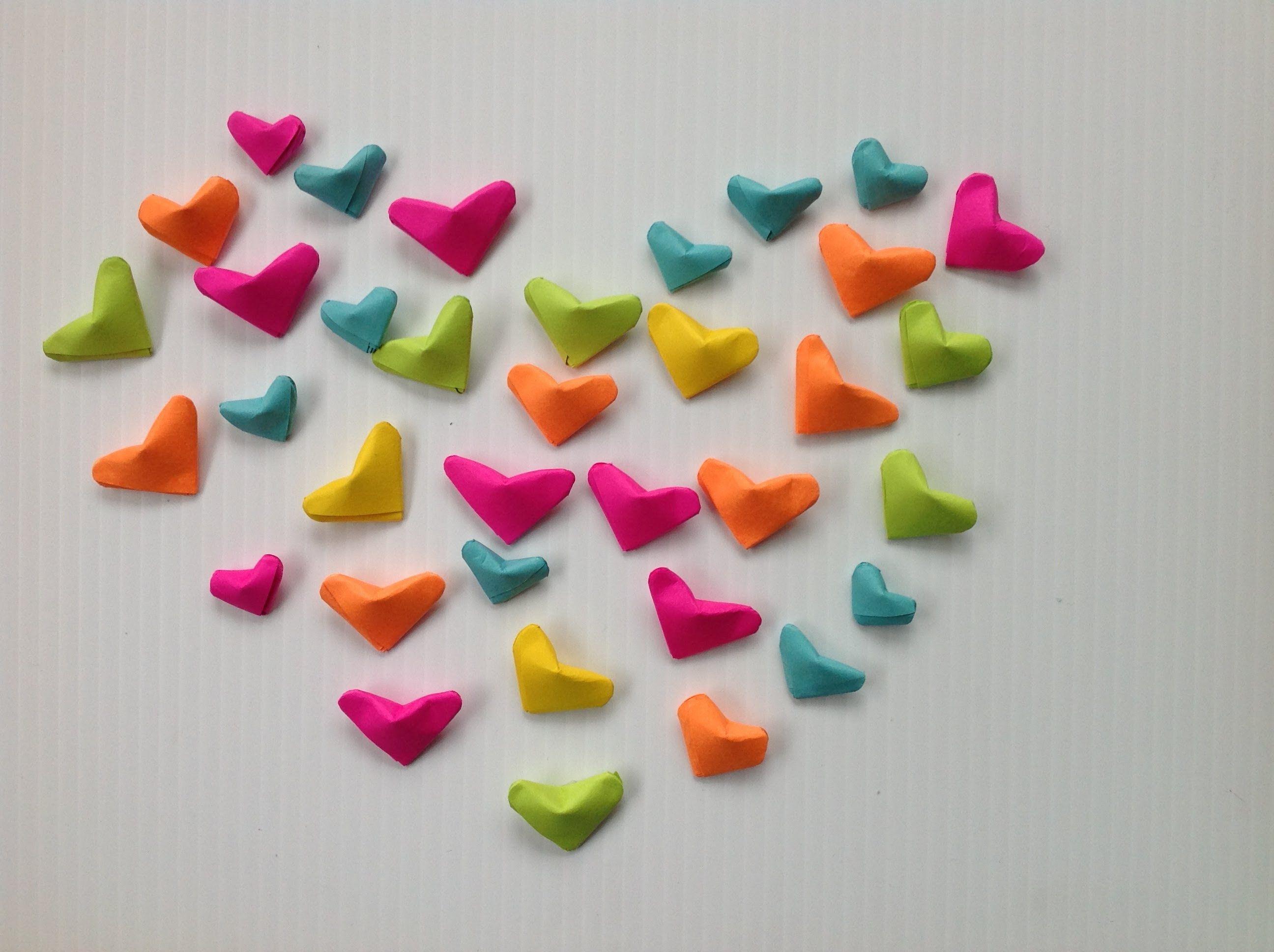 Corazones inflados de papel inflated paper hearts - Papel decorativo manualidades ...