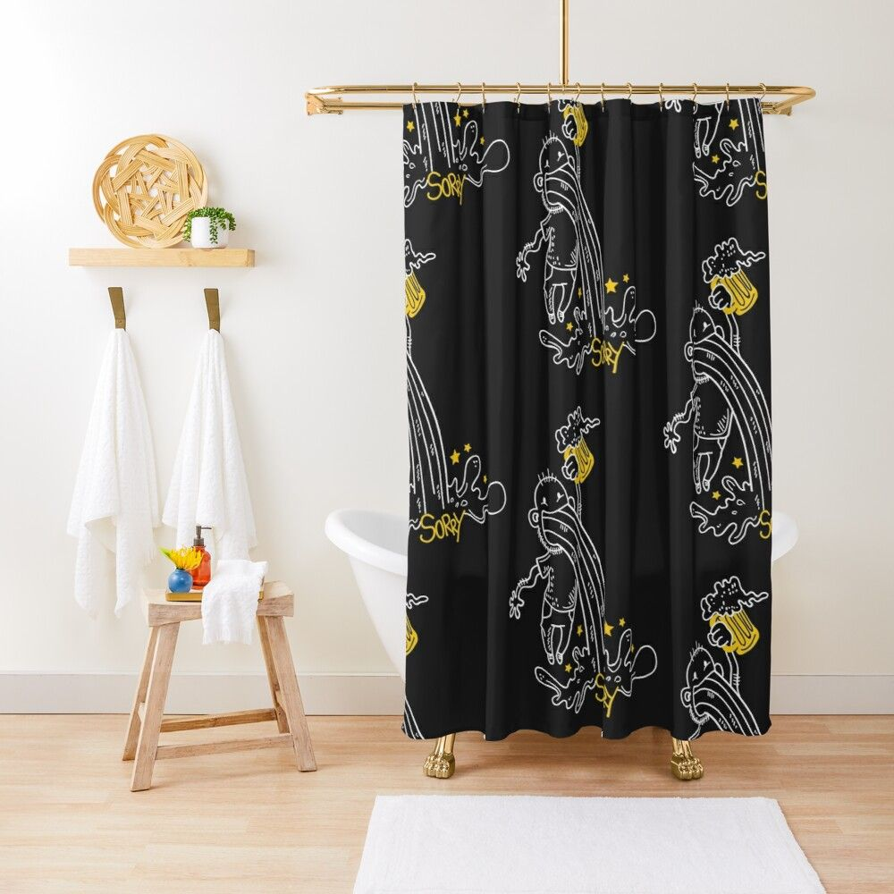 Sorry But I Love Beer Shower Curtain By Biscuite In 2020 Flower