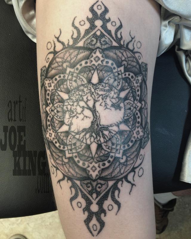 tree mandala tattoo