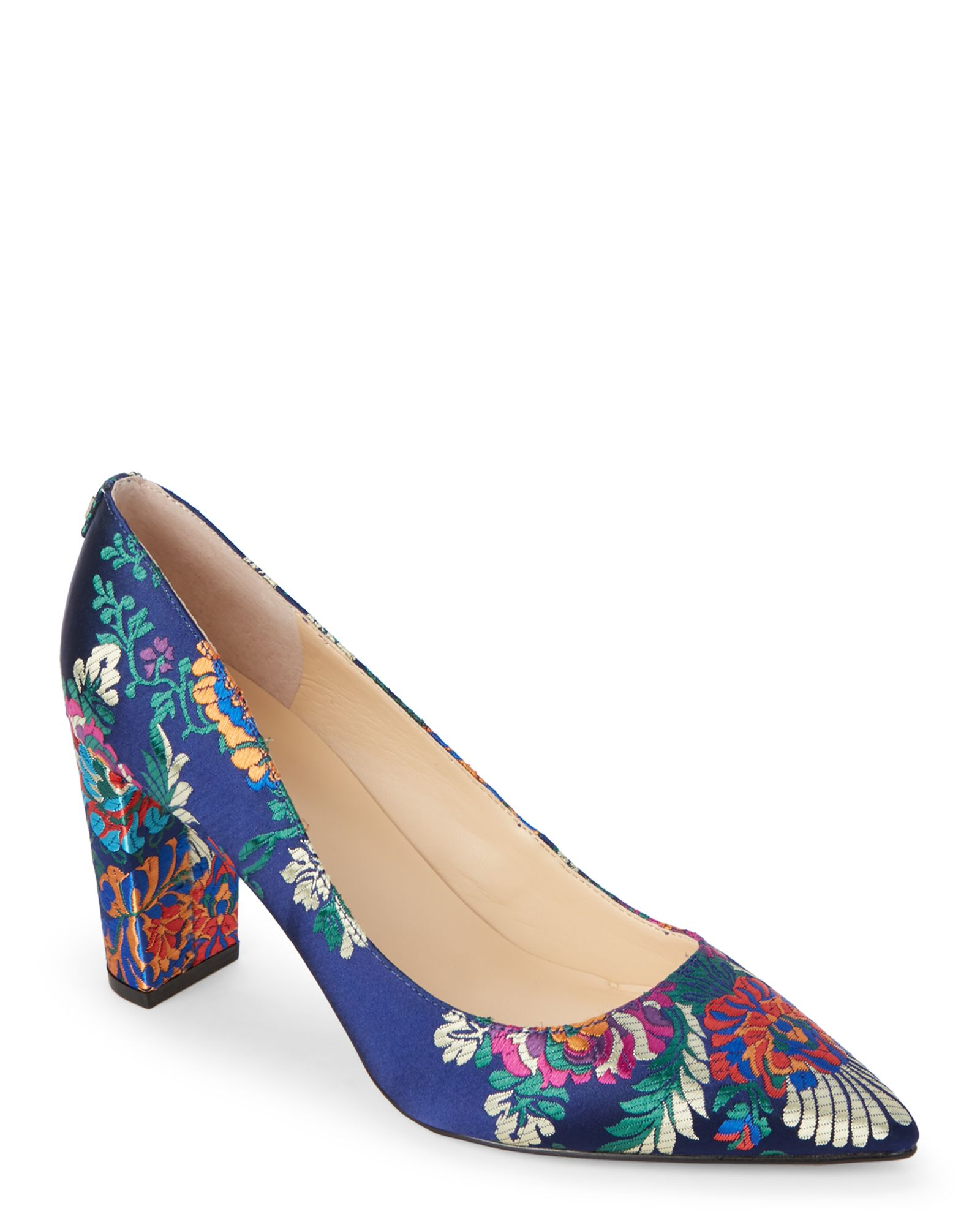Ivanka Trump Navy Lysa 2 Jacquard Pumps