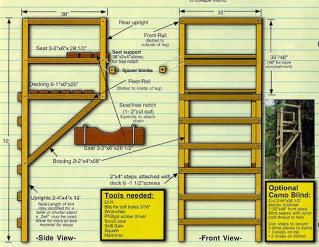 9 free diy deer stand plans bob scheierl 39 s free deer for Free ladder stand plans