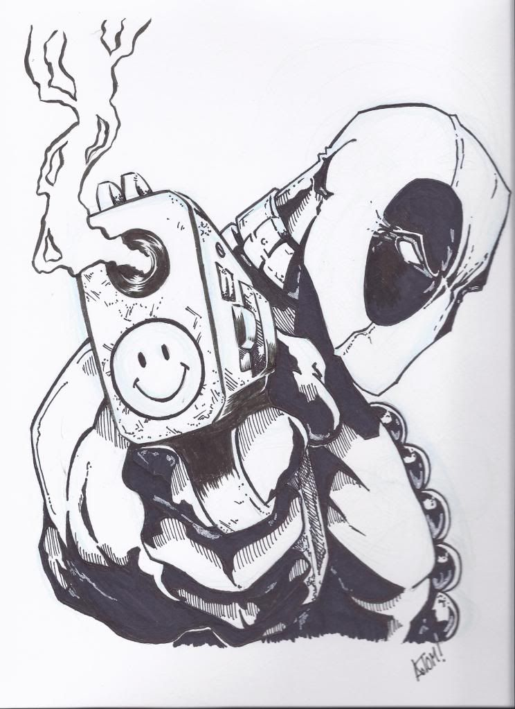Since deadpool is kinda my favorite comic book character i feel like this needs to happen - Dessin deadpool ...