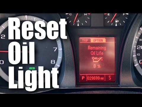 How To Reset The Oil Change Light In A Gmc Terrain Or Chevrolet