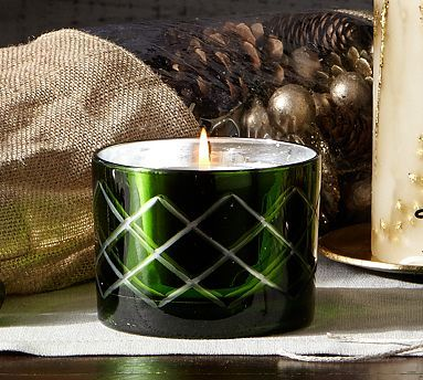 Green Mercury Glass Scented Candle Pot Potterybarn