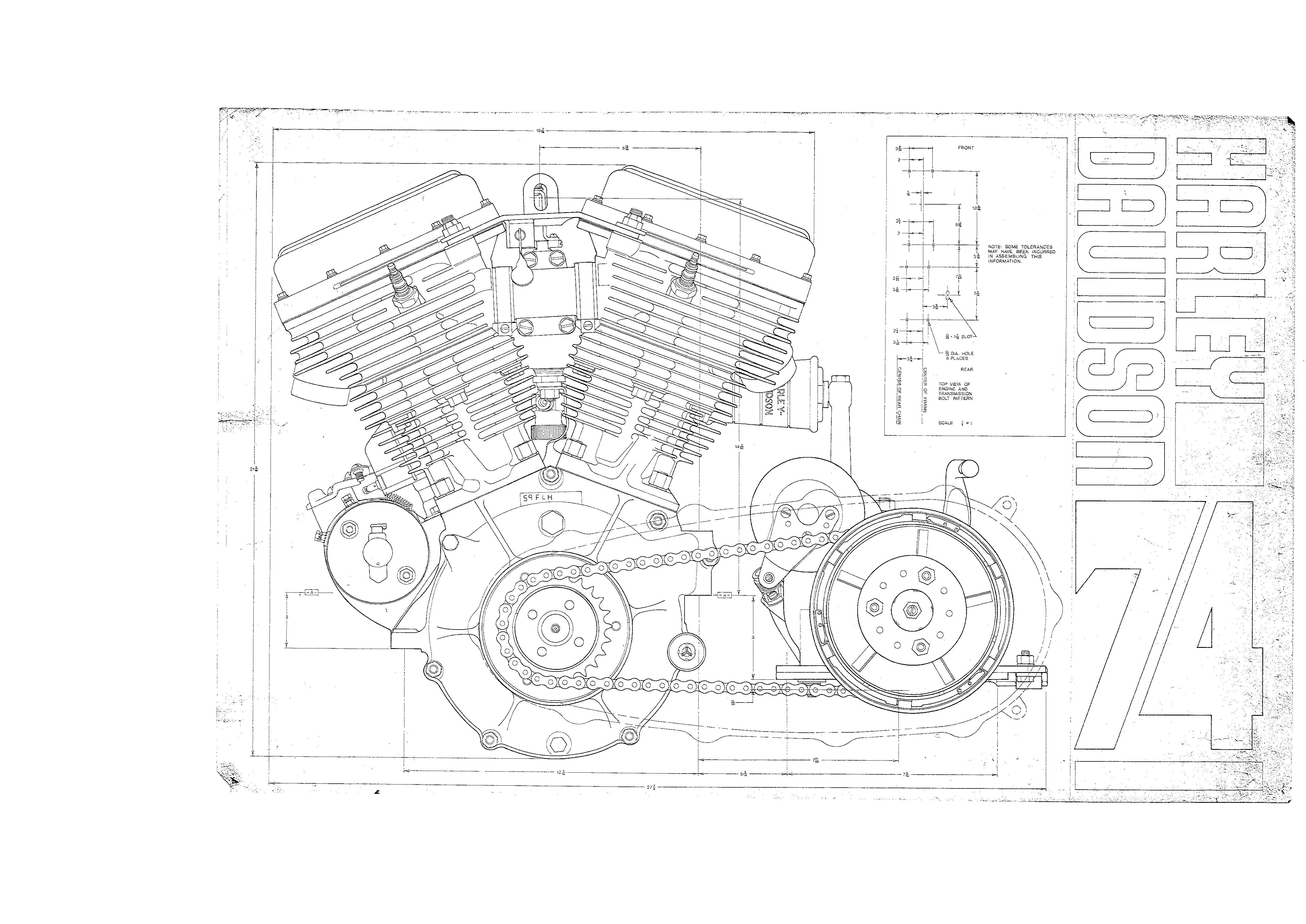 Harley Technical Drawings Harley Pinterest Engine
