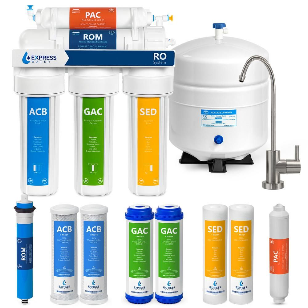 50GPD Membrane 3-Year Filter Set For 5-Stage RO Water Filtration Systems