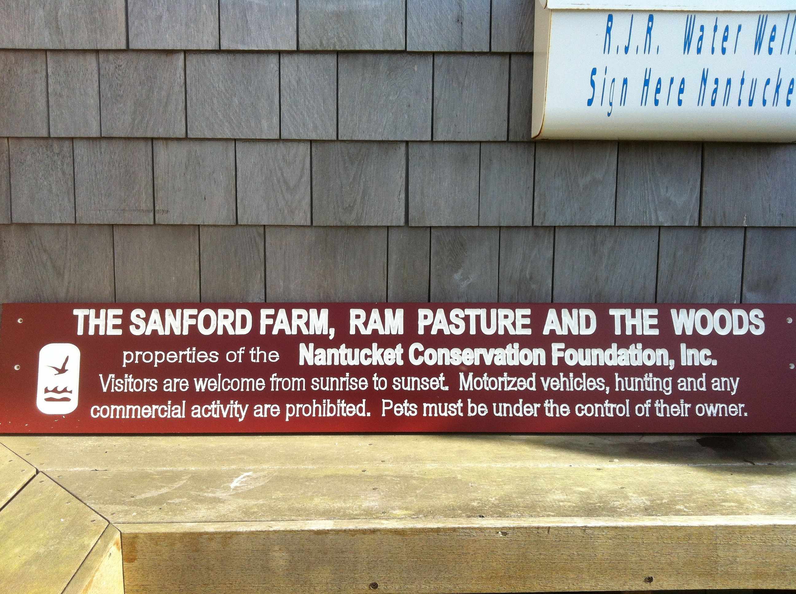 Another new sign for the Nantucket Conservation Foundation