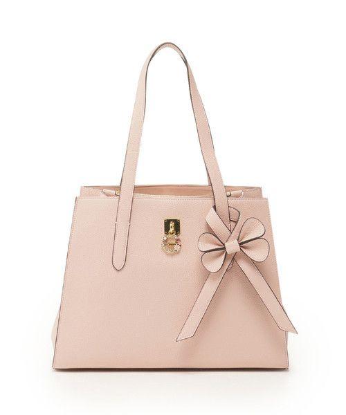 e695526c651e Samantha Thavasa Handbags Samantha Vega Tote bag with flower motif pink