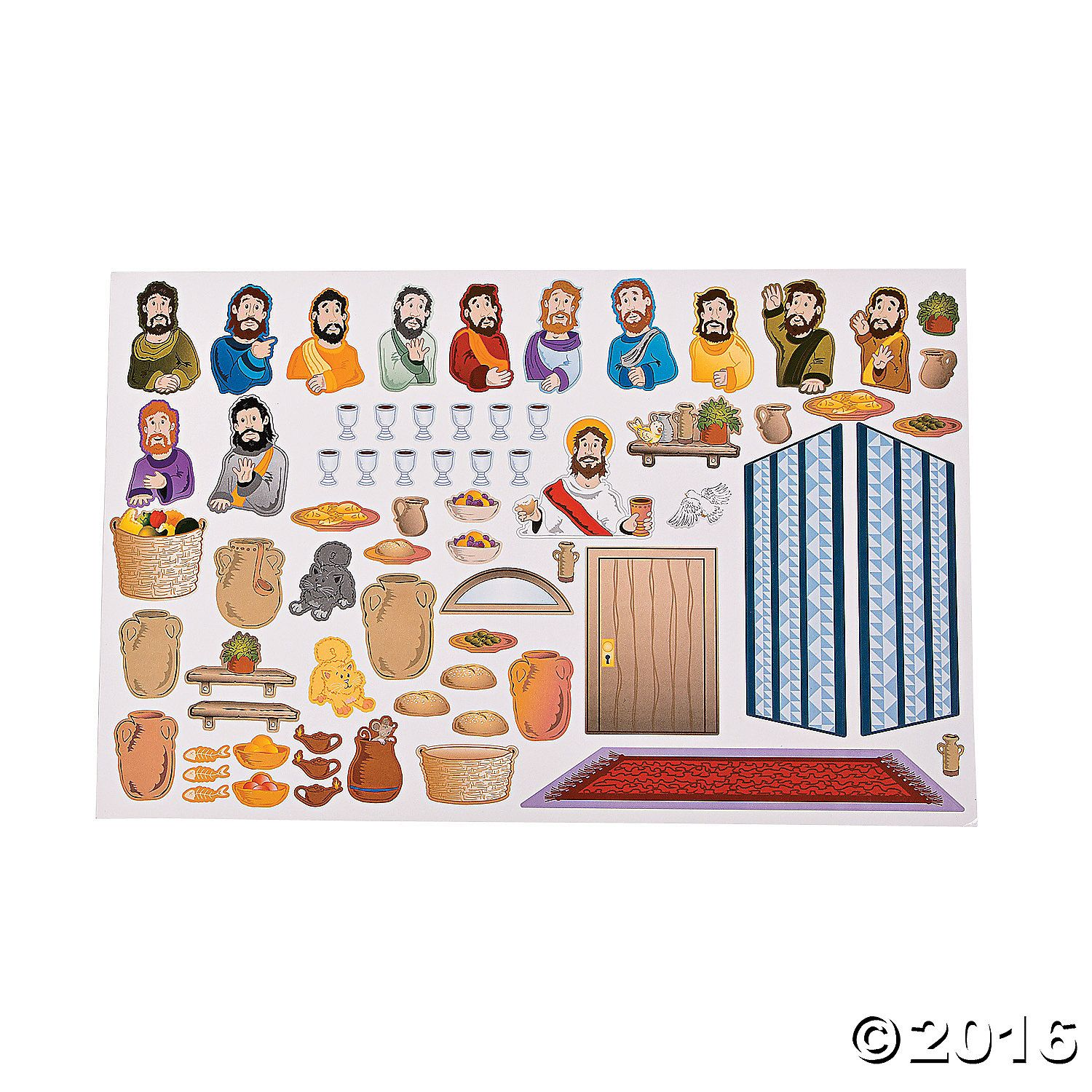 These Last Supper Sticker Scenes Are A Perfect Easter