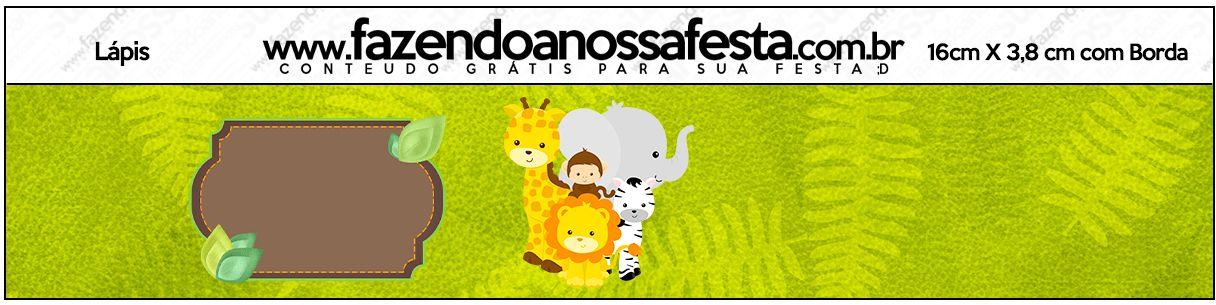 Rotulo Lapis Safari Safari Rotulos De Lapis E Festa Safari