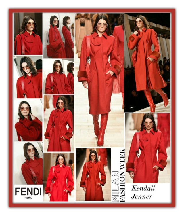 """Kendall Jenner Fendi Fall 2017 Ready-to-Wear MFW Milan Fashion Week 2017"" by valenlss ❤ liked on Polyvore"