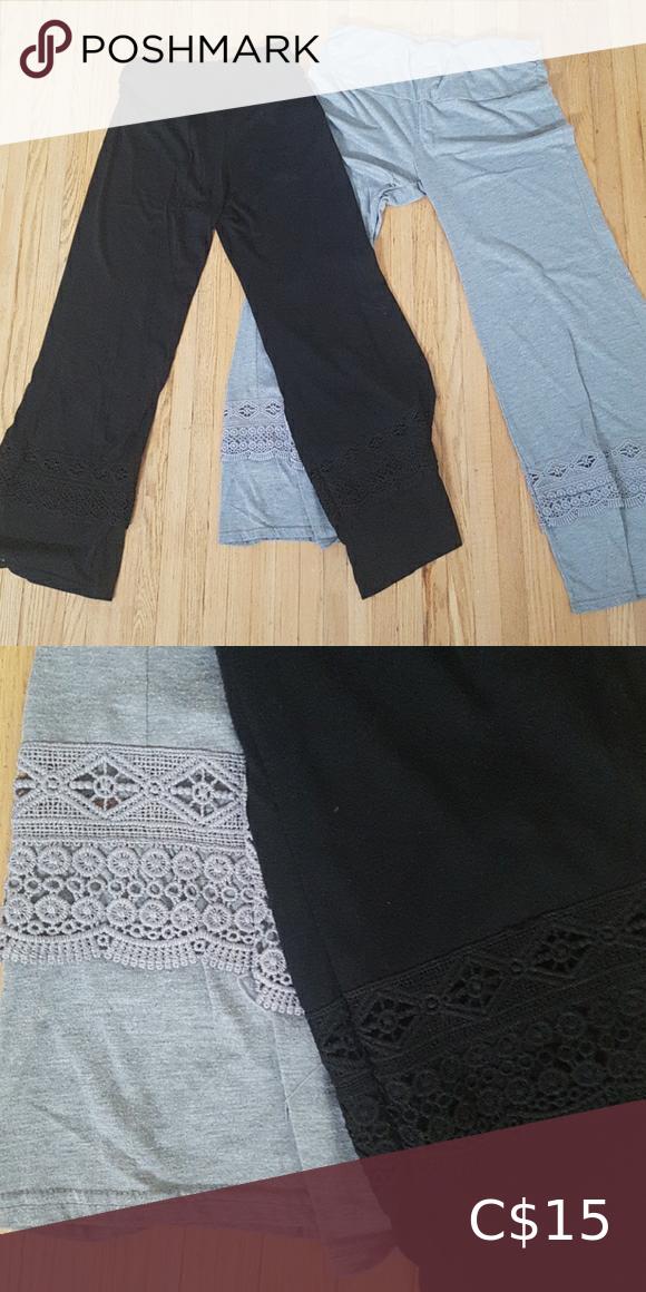2 Pairs of Elastic Waist Lounge Pants