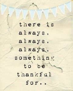 being thankful..