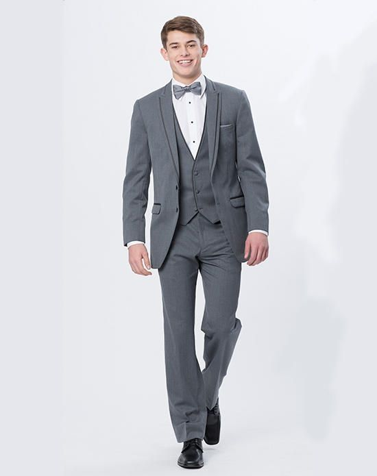 Latest Coat Pant Designs Smoking Grey Men Wedding Suits Jacket Slim ...