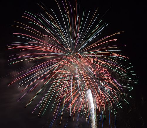 Fireworks at Point State Park in Pittsburgh  http://wefirstmet.com