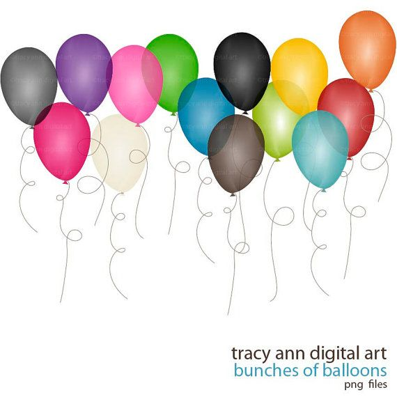 Balloon Clip Art bunches of balloons clipart by TracyAnnDigitalArt, $4.95