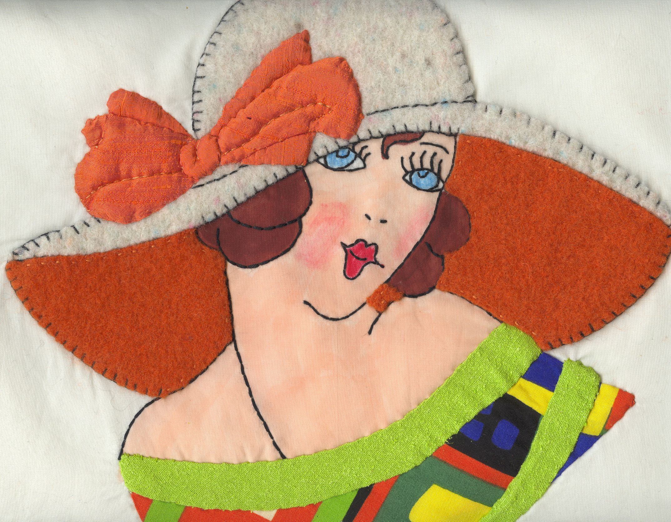 Deco Betty Wears A Hat Made From Felted Wool Sweaters Vintage