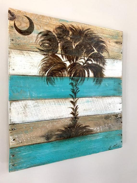 Sc Palmetto Tree Palm Wall Art Available In Custom