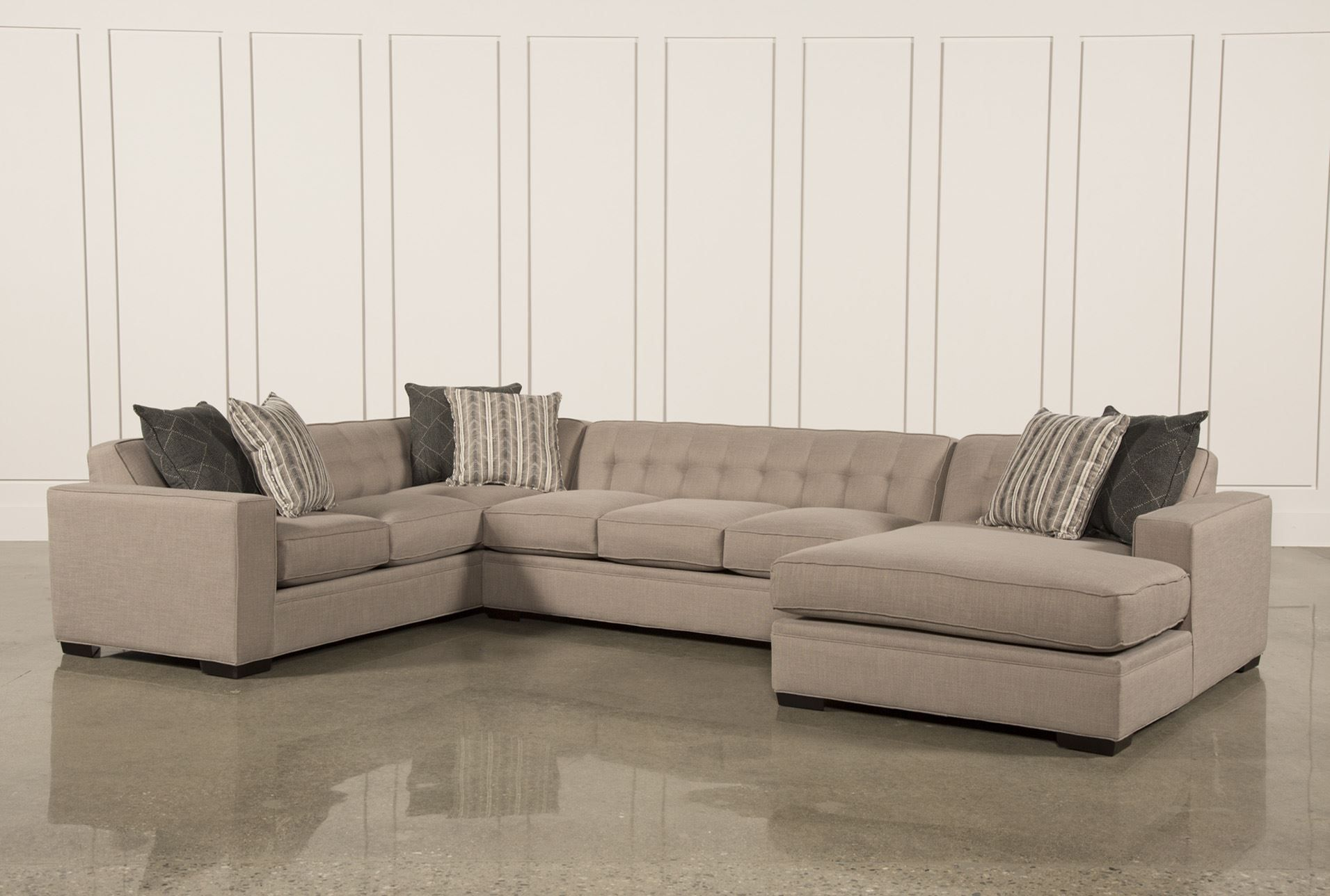 corbin 3 piece sectional wraf chaise