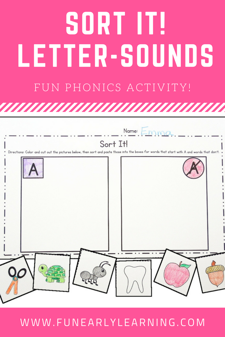 Sort It Phonics Activity for Letter-Sound Correspondence. Great ...