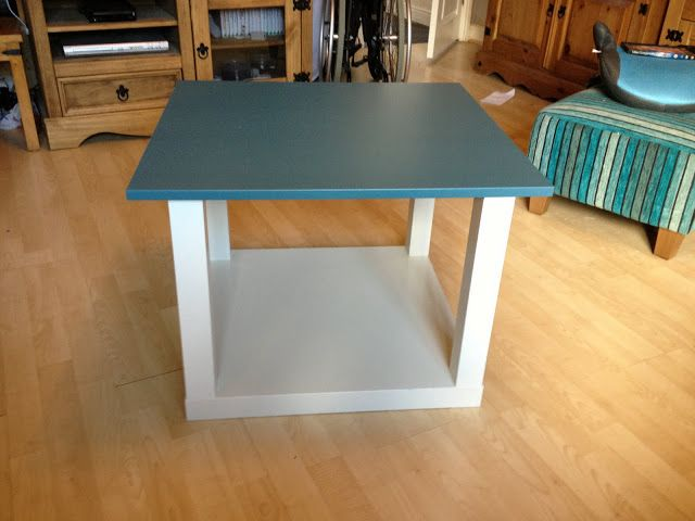 Coffee Table End Using A Lack 8 And Besta Vara Door 5