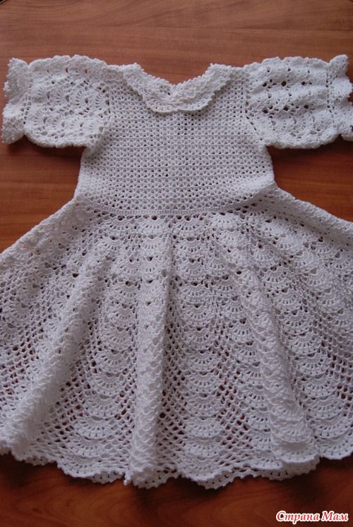 crochet white baby dress, | make handmade, crochet, craft | ropones ...