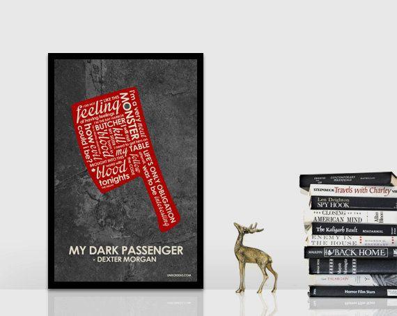Dexter Inspired Quote Poster  11 x 17 par UnikoIdeas sur Etsy, $18.00