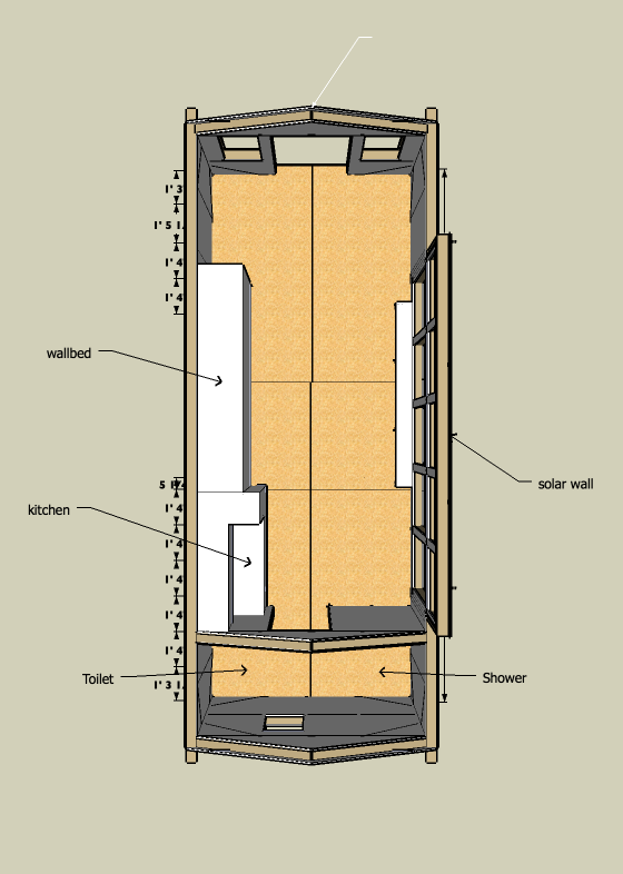 8x20 Solar Tiny House Plans - Version 1 0 - Tiny House