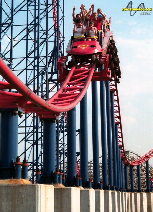 Superman Ride Of Steel Photo From Six Flags America Six Flags America Six Flags Roller Coaster
