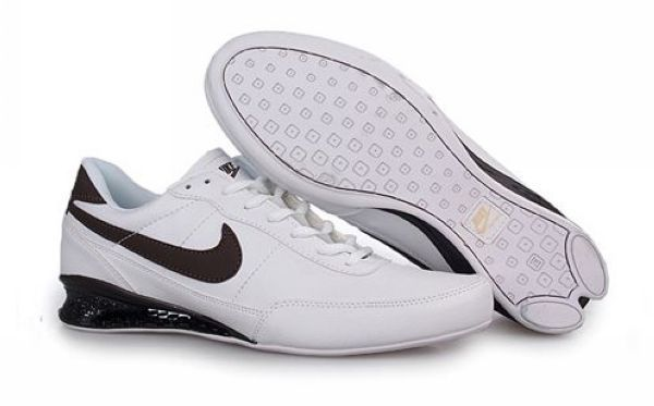 Mens Nike Shox R2 Shoes White Brown 28161