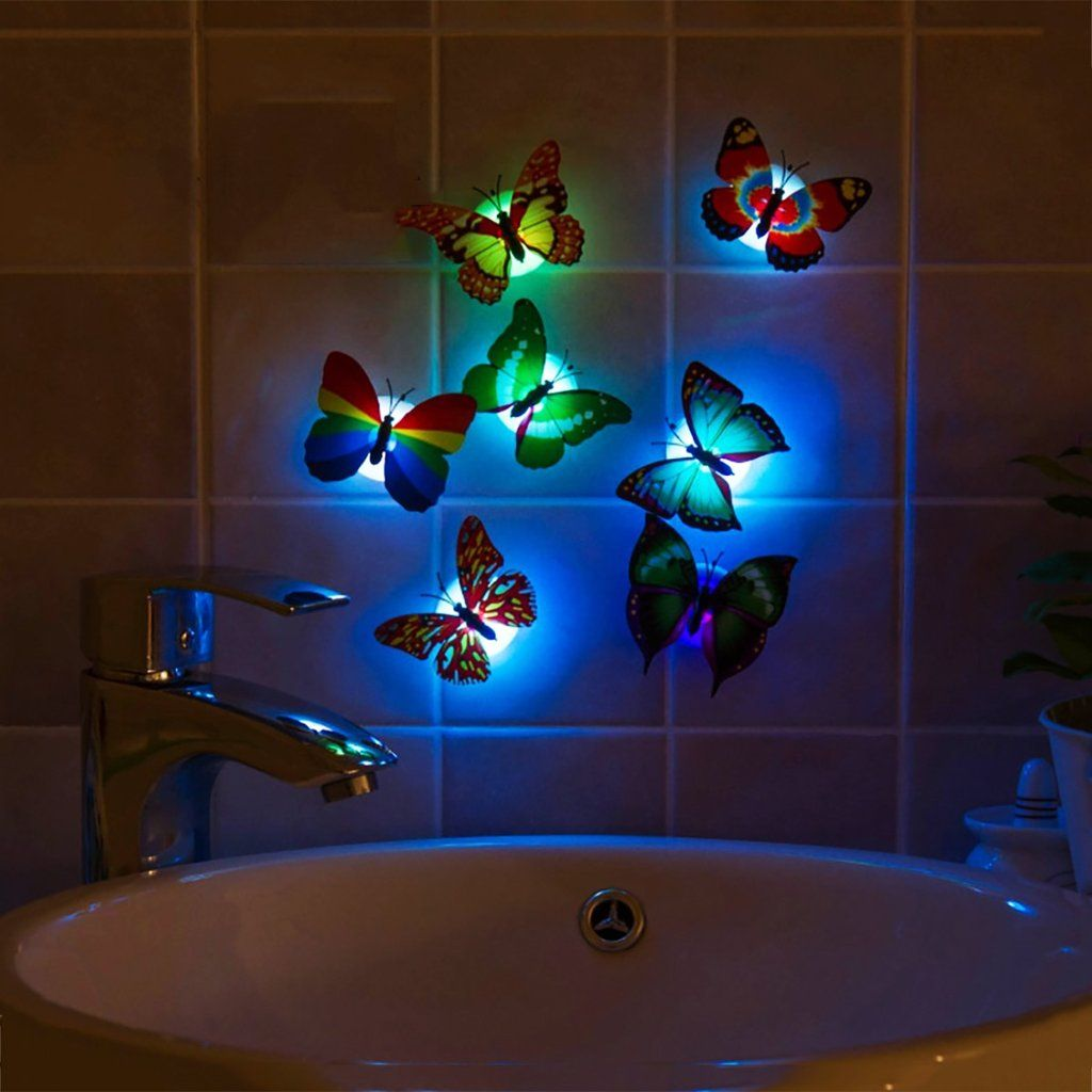 3d Wall Art Night Light Led 3d Butterfly Stickers How Do We Get Things We Don 39t