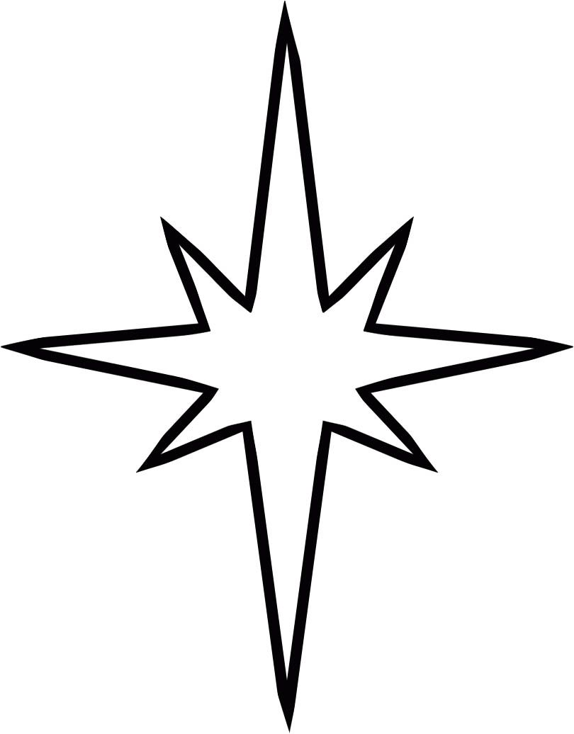 Christmas Star In A Clear And Attractive Coloring Page Christmas Star Star Coloring Pages Nativity Star